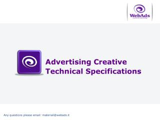 Advertising Creative  Technical Specifications