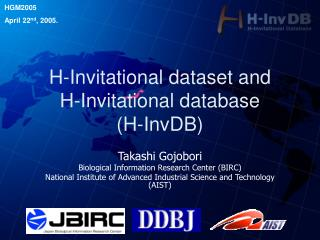 H-Invitational dataset and  H-Invitational database (H-InvDB)