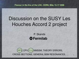 Discussion on the SUSY Les Houches Accord 2 project