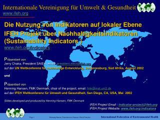 Internationale  Vereinigung  für Umwelt & Gesundheit ifeh