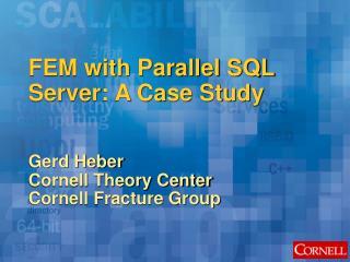FEM with Parallel SQL Server: A Case Study