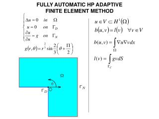 FULLY AUTOMATIC HP ADAPTIVE  FINITE ELEMENT METHOD