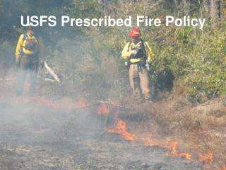 USFS Prescribed Fire Policy