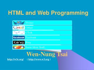 HTML and Web Programming