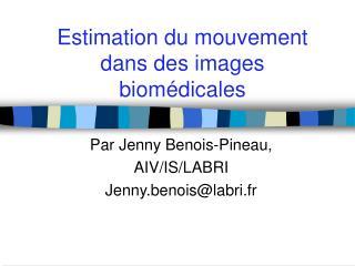 Estimation du mouvement dans des images biomédicales