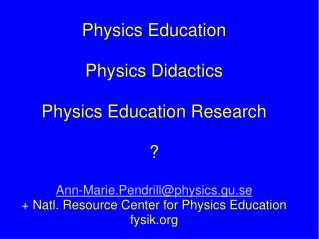 ICPE - International Commission of Physics Education