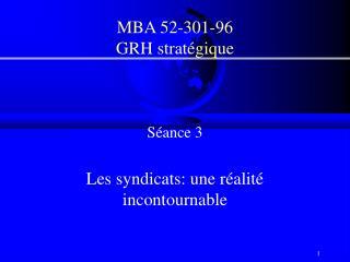 MBA 52-301-96 GRH stratégique