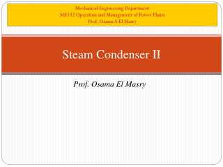 Steam Condenser II