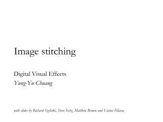 Image stitching