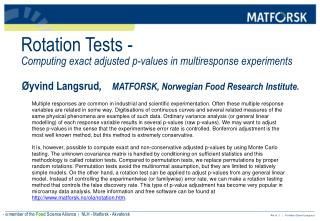 Rotation Tests -  Computing exact adjusted p-values in multiresponse experiments