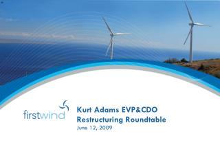Kurt Adams EVP&CDO Restructuring Roundtable
