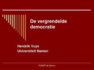 De vergrendelde democratie