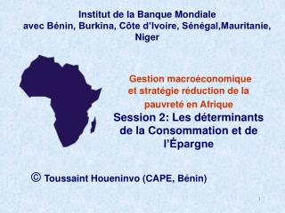 Toussaint Houeninvo CAPE, B nin