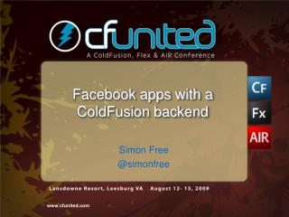 Facebook apps with a ColdFusion backend