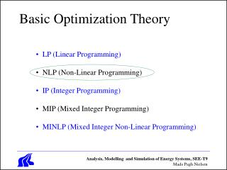 Basic Optimization Theory