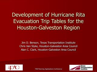 Development of Hurricane Rita Evacuation Trip Tables for the Houston-Galveston Region