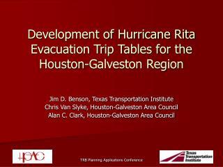 Development of Hurricane Rita Evacuation Trip Tables for the Houston-Galveston Region