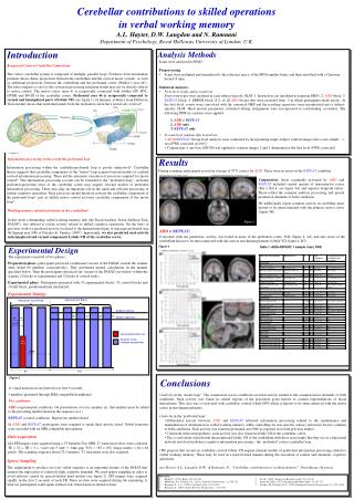 Cerebellar contributions to skilled operations in verbal working memory