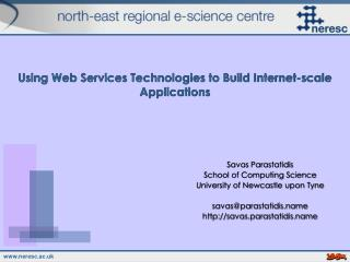Using Web Services Technologies to Build Internet-scale Applications
