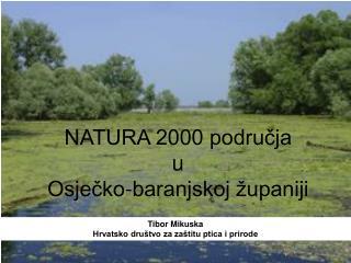 NATURA 2000 područja u Osječko-baranjskoj županiji