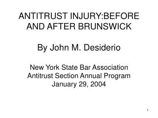 ANTITRUST INJURY: INTRODUCTION