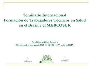 Seminario Internacional Formación de Trabajadores Técnicos en Salud  en el Brasil y el MERCOSUR