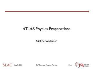 ATLAS Physics Preparations
