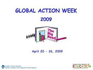GLOBAL ACTION WEEK 2009