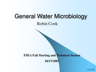 General Water Microbiology