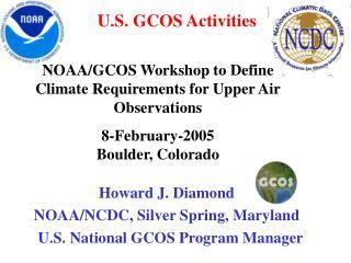 U.S. GCOS Activities