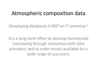 Atmospheric composition data