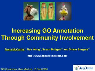 Increasing GO Annotation Through Community Involvement