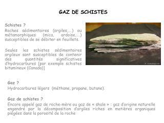 GAZ DE SCHISTES