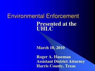 Environmental Enforcement