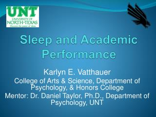 Sleep and Academic Performance