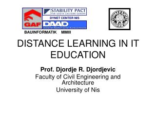 DISTANCE LEARNING IN IT EDUCATION