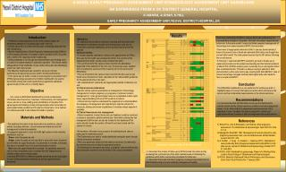A NOVEL EARLY PREGNANCY ASSESSMENT UNIT/GYNAECOLOGY ASSESSMENT UNIT DASHBOARD