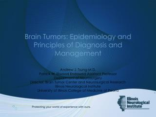 Brain Tumors: Epidemiology and Principles of Diagnosis and Management