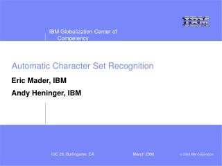 Automatic Character Set Recognition