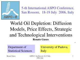 World Oil Depletion: Diffusion Models, Price Effects, Strategic and Technological Interventions
