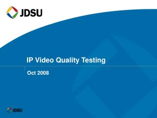 IP Video Quality Testing