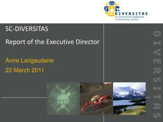 SC-DIVERSITAS Report of the Executive Director