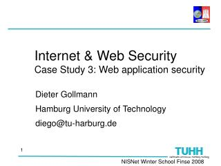 Internet & Web Security Case Study 3: Web application security