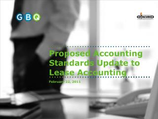 Proposed Accounting Standards Update to Lease Accounting
