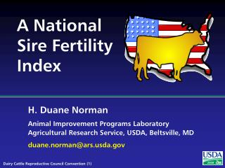 A National Sire Fertility Index