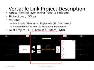 Versatile Link Project Description