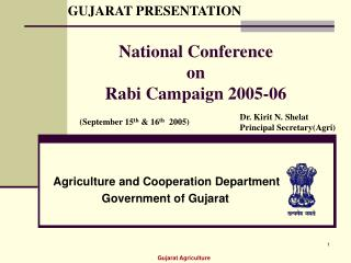 National Conference  on Rabi Campaign 2005-06