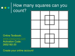 How many squares can you count?