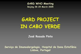 GARD PROJECT  IN CABO VERDE
