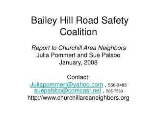 Bailey Hill Road Safety Coalition